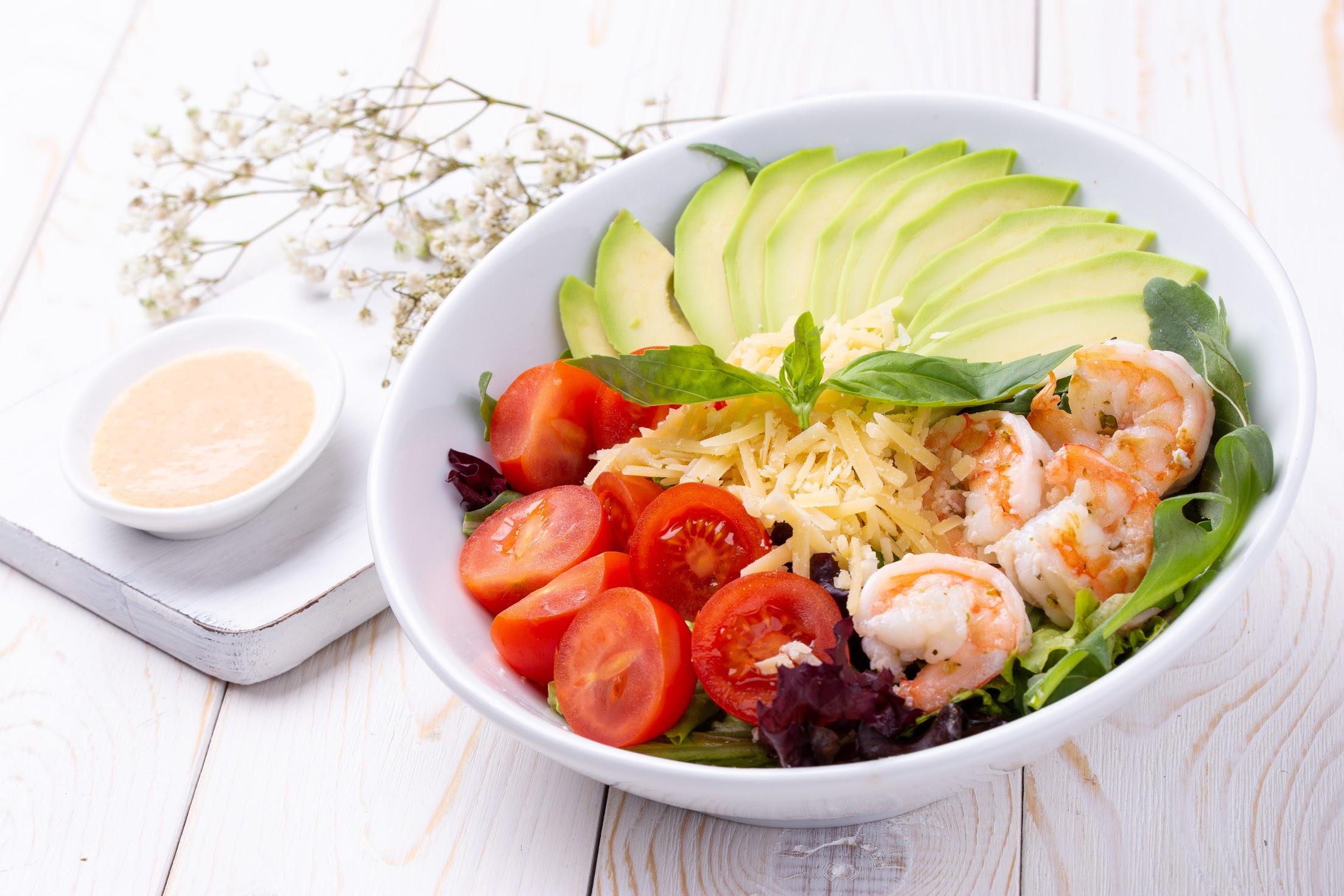 Салат «С креветками»